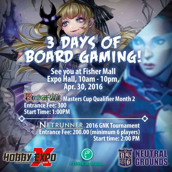 3 Days of Board Gaming @ Fisher Mall FoW Netrunner