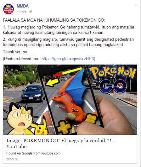 MMDA PSA Pokemon Go Image DAGeeks