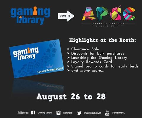Gaming Library Goes to APCC 2016 Image DAGeeks