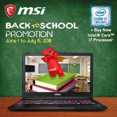 MSI Back-to-School Promo (2018)