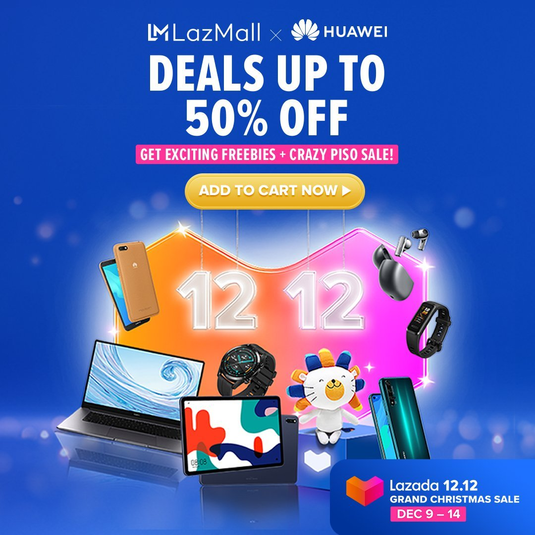 Huawei's Online Store and Lazada 12.12 Sale