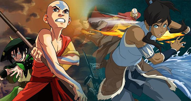 Avatar Aang and Korra TTRPG Header Image