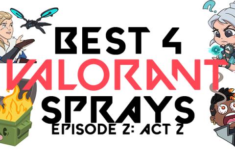 Best 4 Valorant Sprays Episode 2 Act 2 Header Image