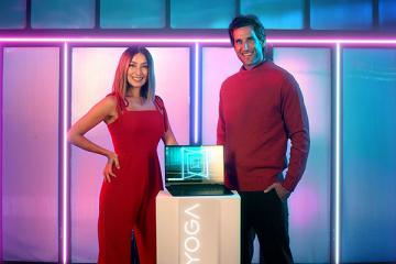 Solenn Heussaf and Nico Bolzico Lenovo Yoga Header Image