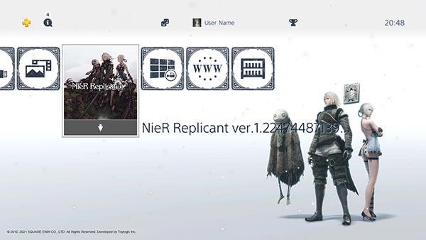 NieR Replicant PS4 Dynamic Theme Image