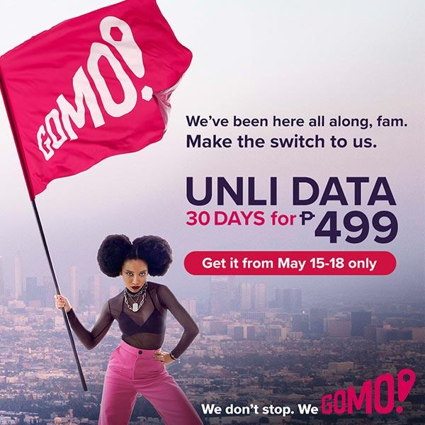 GOMO UNLI Flash Sale Poster