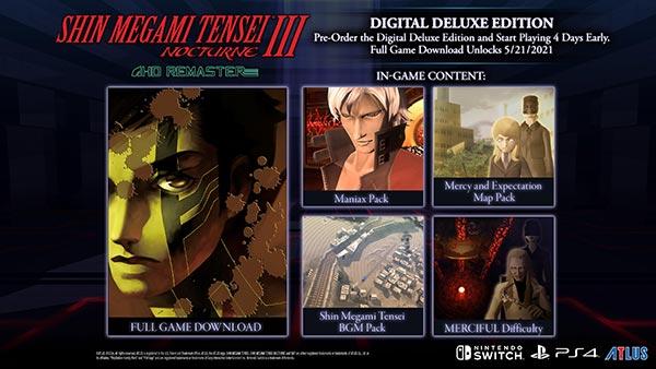 Shin Megami Tensei III Nocturne HD Remaster Delxue Edition Image