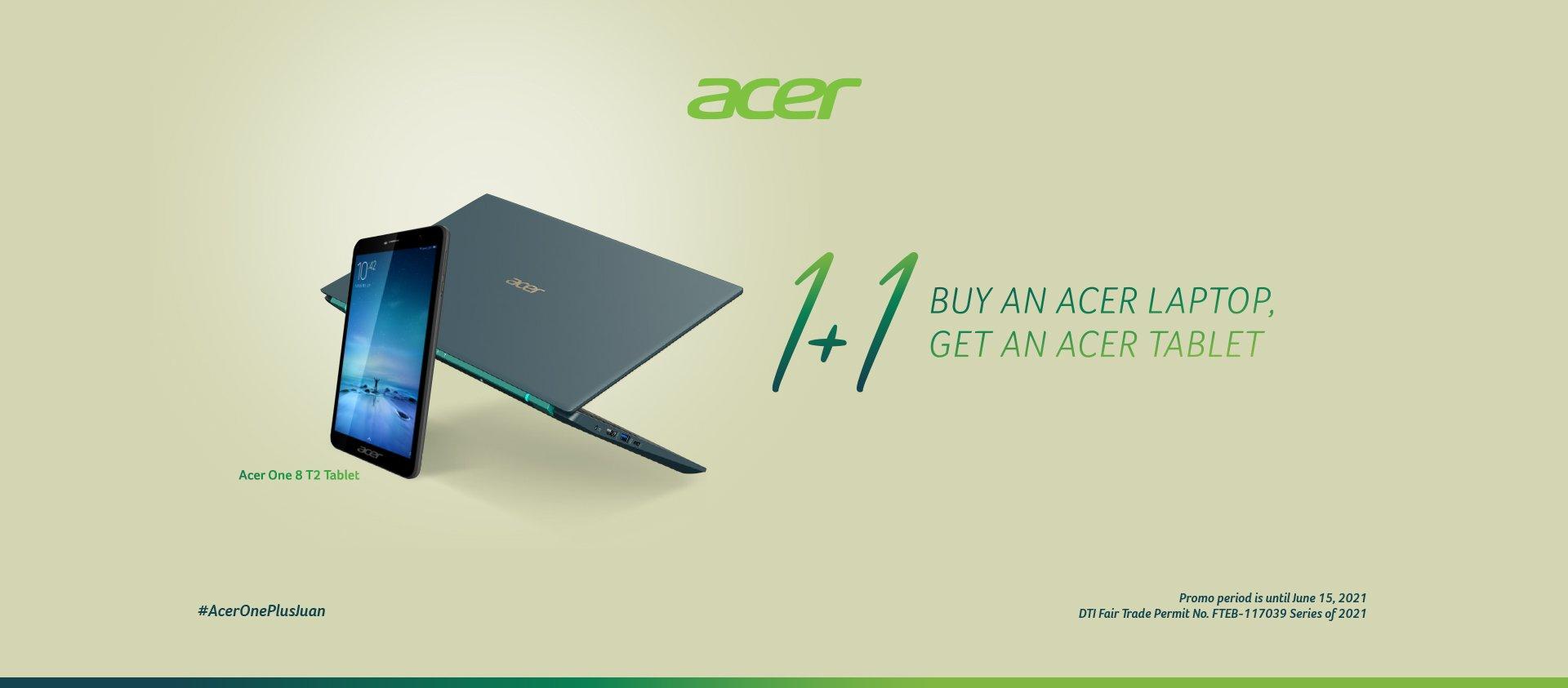 Acer extends #AcerOnePlusJuan promo