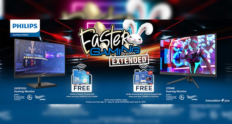 Philips Gaming Monitor Easter Gaming Promo Extension Header Image
