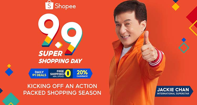 Shopee 9.9 Super Shopping Daywith Jackie Chan Header Image