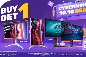 AOC Buy 1 Get 1 Cyber Month 2021 Gadget Sale Header Image